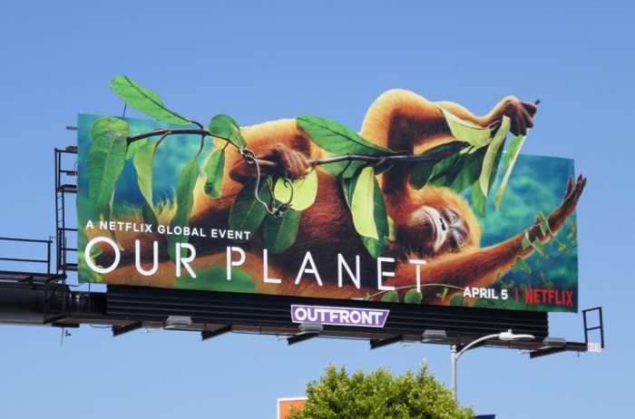 Our Planet Orangutan billboard