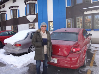 estacionamento do hotel st. moritz lodge em aspen, colorado
