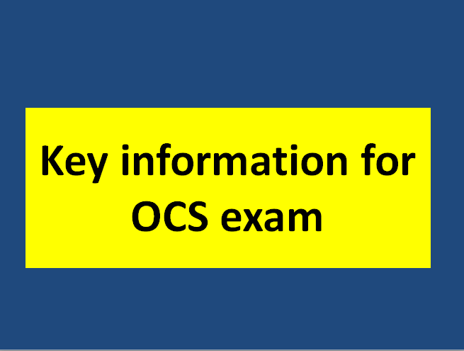Key information for the CIMA OCS exam! from the examiner