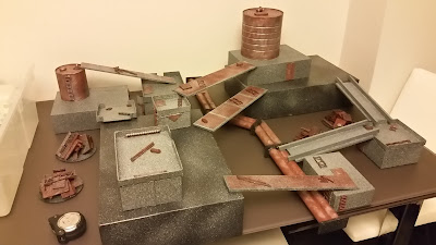 GWpertinent and MORE: Stackable Necromunda Terrain ('munda table in a box)