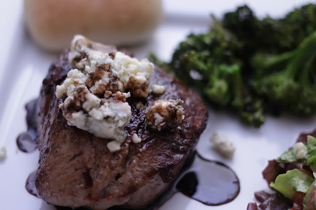Seared Steak with balsamic reduction
