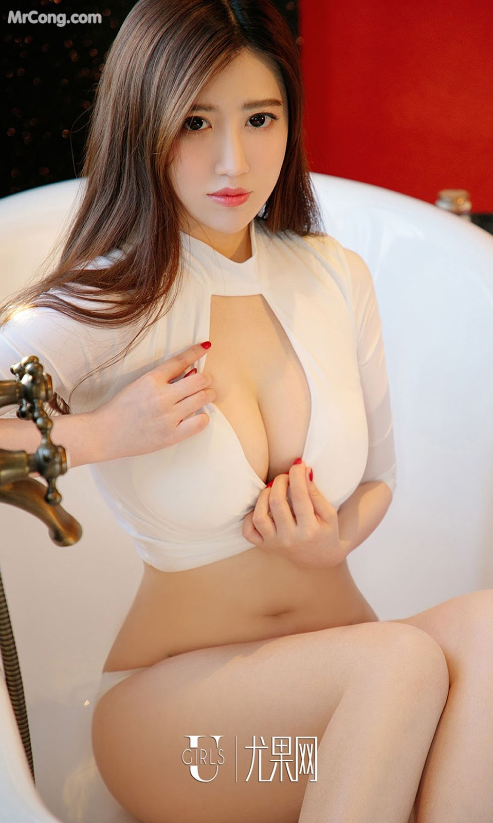 Image UGIRLS-Ai-You-Wu-App-No.964-Ai-Miao-MrCong.com-003 in post UGIRLS – Ai You Wu App No.964: Người mẫu Ai Miao (艾淼) (40 ảnh)
