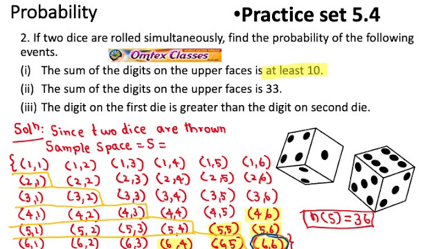 Practice Set 5.4 | Probability | SSC | Maharashtra | Maths I | New syllabus