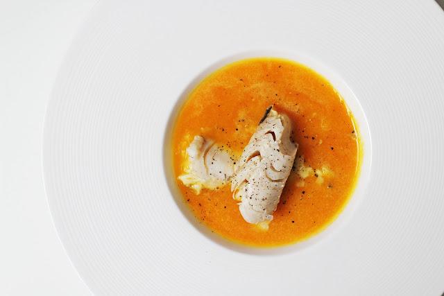 Συνταγή για Καροτόσουπα με Μπακαλιάρο