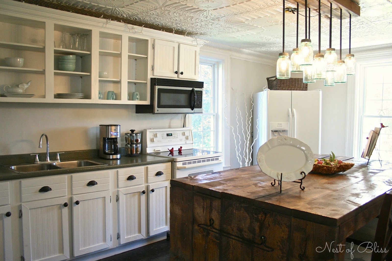 Reclaimed Wood Kitchen Cabinets Kitchen Renovation Makeover Progress Before And After