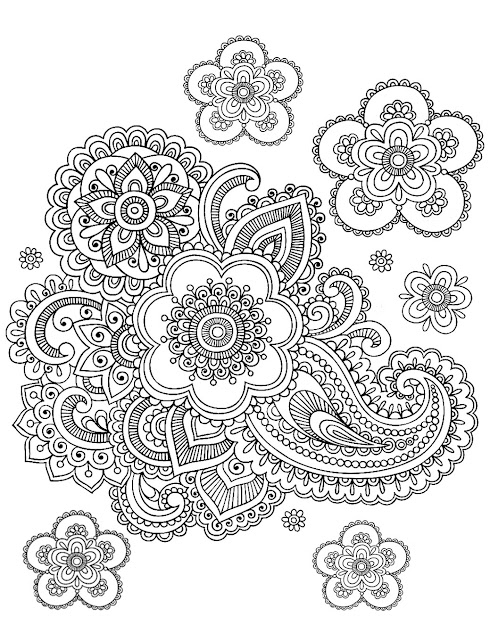Free Coloring Page Coloringadultpaisleydifficult Difficult Coloring  Page