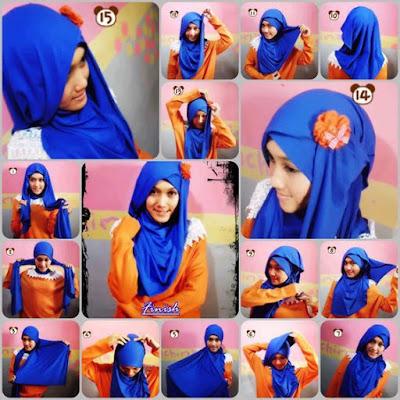 Tutorial Style Hijab Pashmina Flower Loose