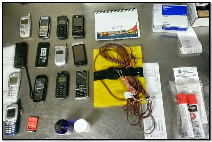An explosives training kit was discovered in a traveler's checked bag at Northwest Florida (VPS).