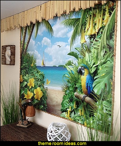 Decorating theme bedrooms maries manor tropical beach for America tropical mural