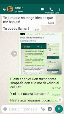 Capturas de pantalla del chat