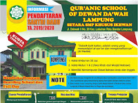 QURANIC SCHOOL OF DEWAN DA'WAH LAMPUNG