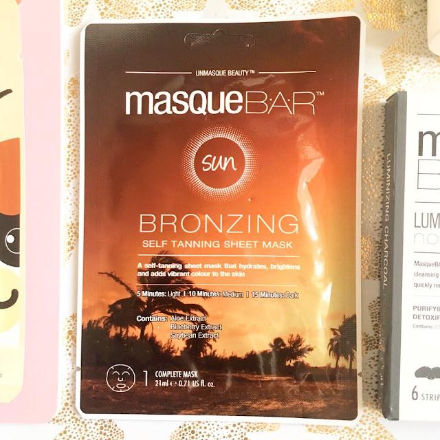 MasqueBAR bronzing sheet mask