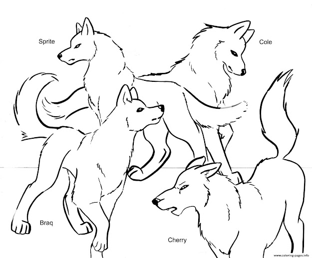 Wolf Pack Team Colouring Print Wolf Pack Team Coloring Pages