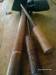 hacer mangos de madera de haya