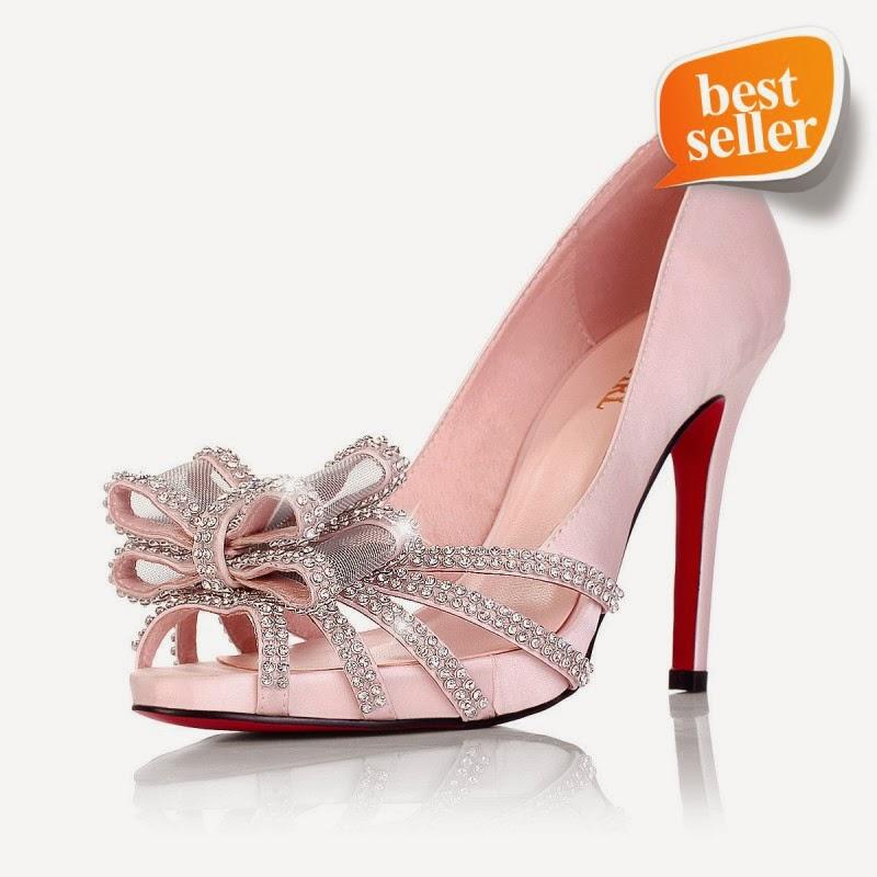 Pink Heels For Wedding: Elegant Bridal Style: Pink Satin Wedding Shoes Wallpaper
