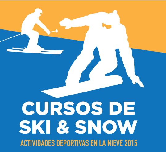 Actividades en la nieve 2015. cursos de esquí y snow del Ayuntamiento de Madrid