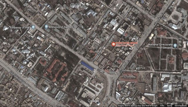 Map Attribute: The location of attack highlighted in red   (c) 2018 GeoEye, Google Maps