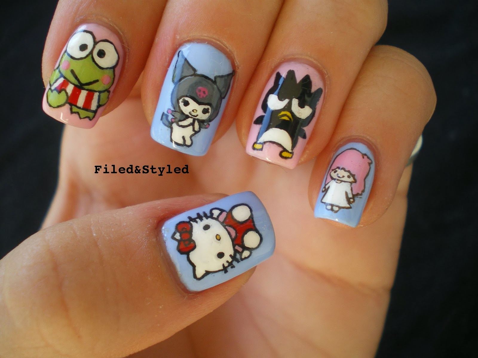 Hello Kitty Nails | Filed & Styled Filed & Styled: Hello ...