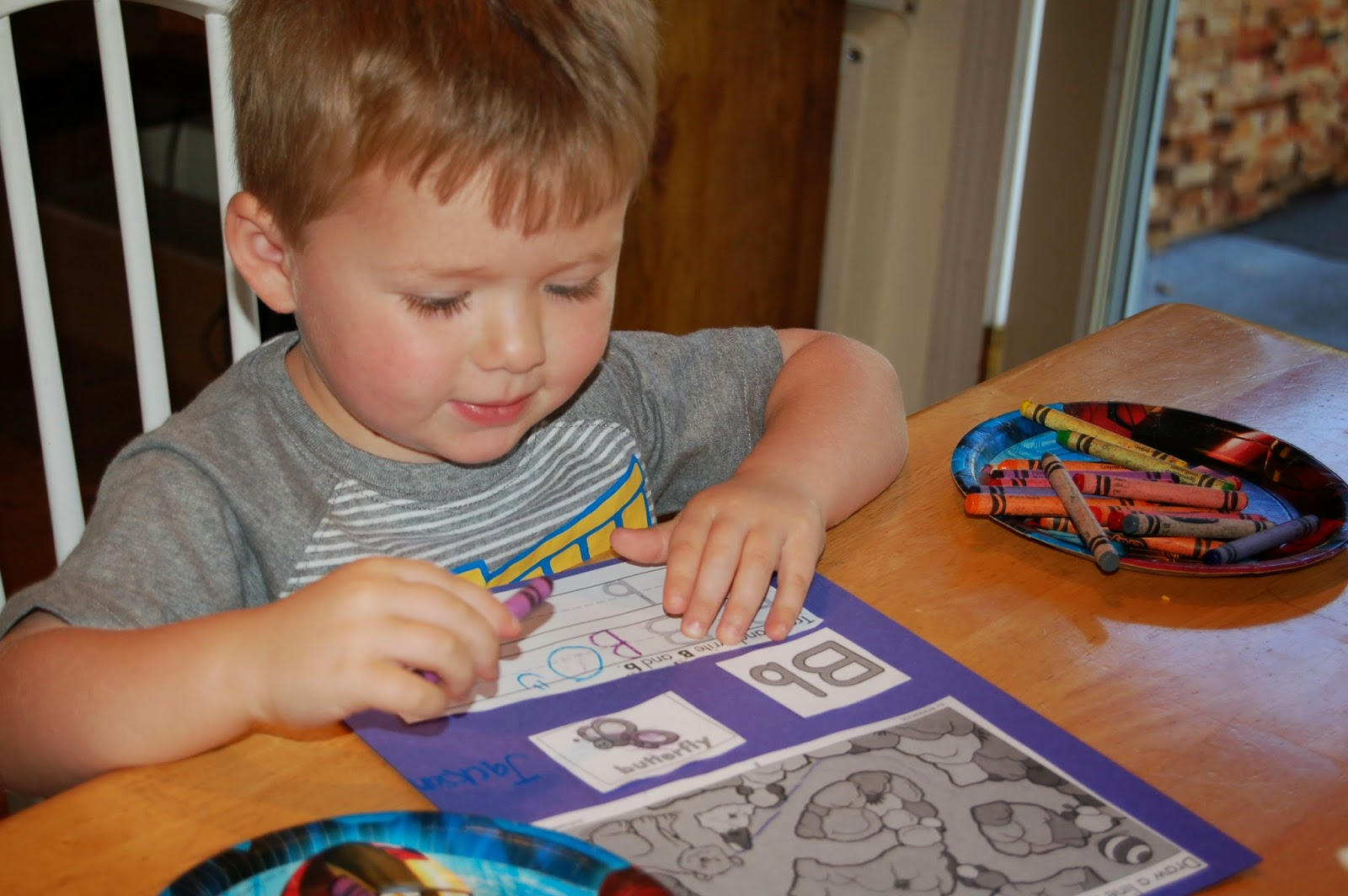 The Kids Glued Bits Of Several Worksheets Onto Their