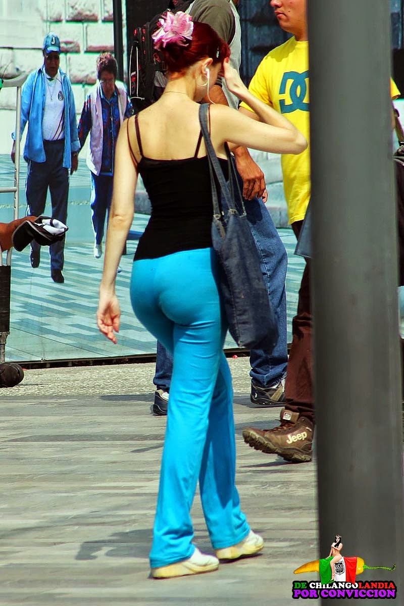 Tight spandex shorts pawg candid wide hips juicy ass mod - 3 part 4