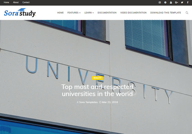 study blogger template