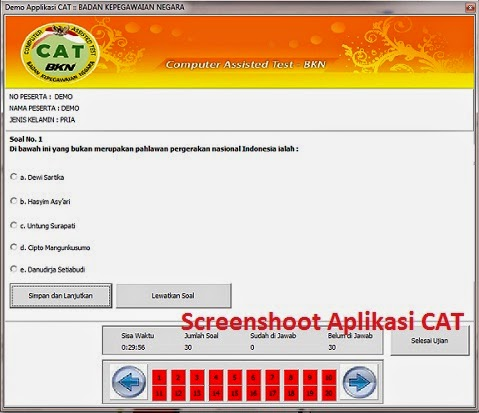 Download Aplikasi Simulasi CAT CPNS 2014 - Gratis
