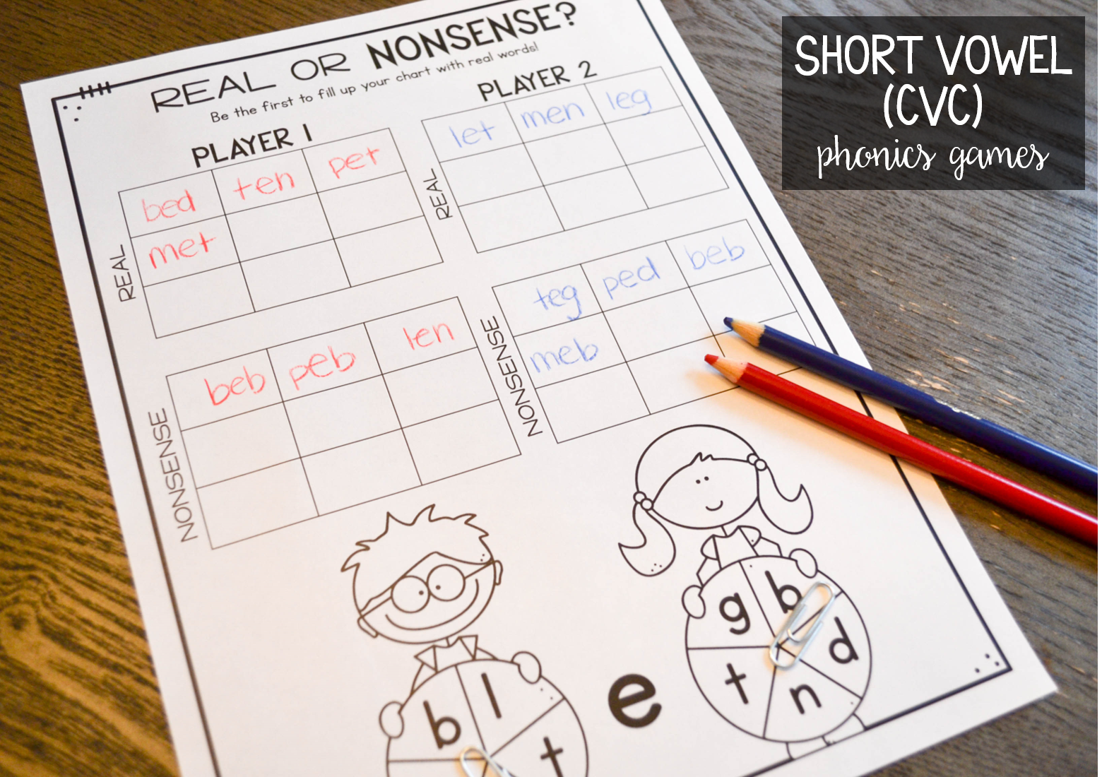 Short Vowel Cvc Phonics Games