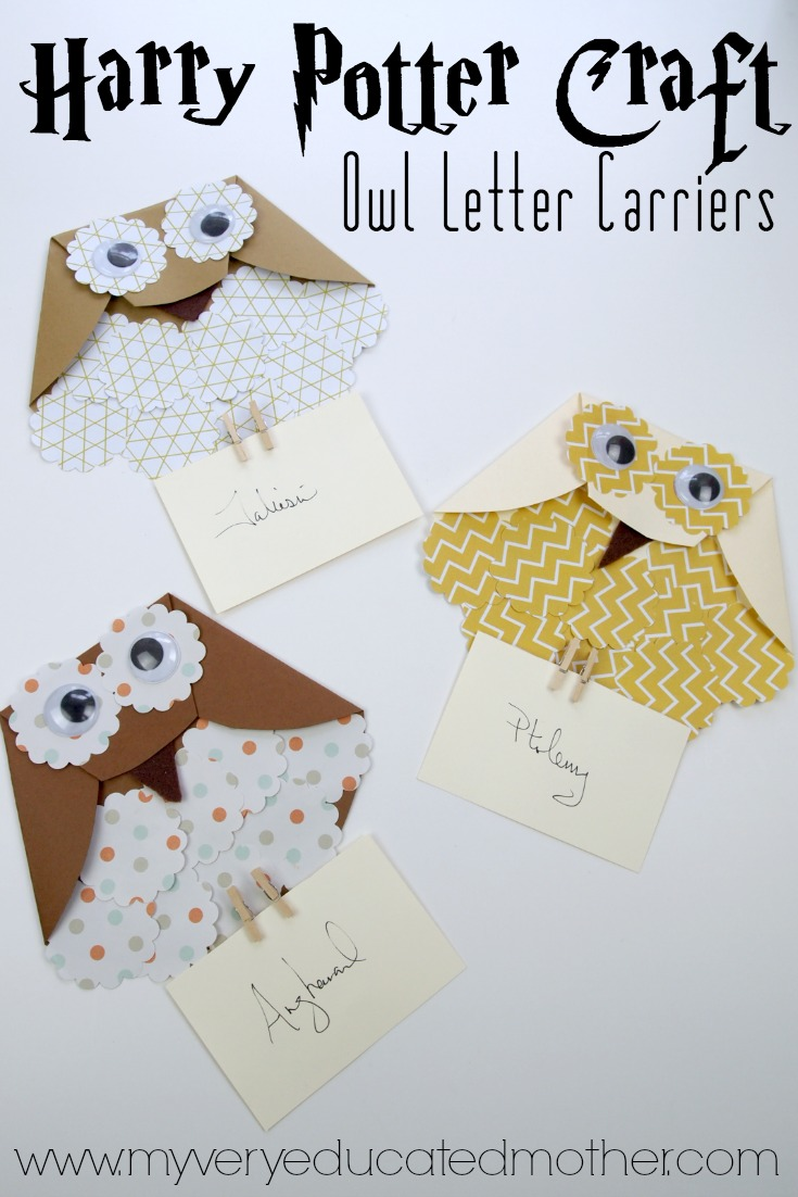 These super easy Harry Potter Owl Letter Holders make a great afternoon kids crafts.