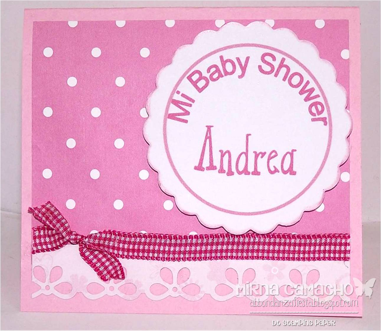 d5f1beb0cd84a Stamping Paper  Invitación para Baby Shower