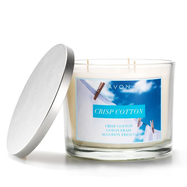 Crisp Cotton Candle | Avon