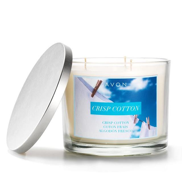 Crisp Cotton Candle   Avon