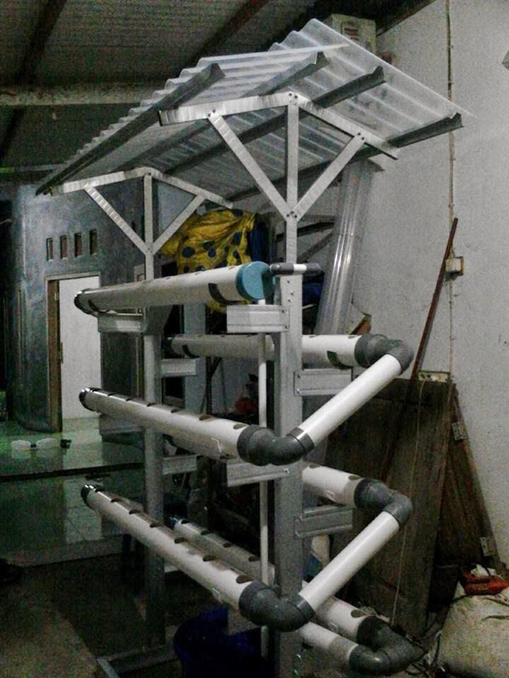 Rak DFT Pralon Produksi Komunitas Hidroponik Kebumen