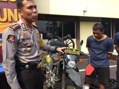 Nekad Bawa Kabur Sepeda Motor Dinas Polisi, Tersangka Curanmor Ditembak