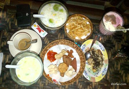 Hidangan di Istana Es Nganjuk