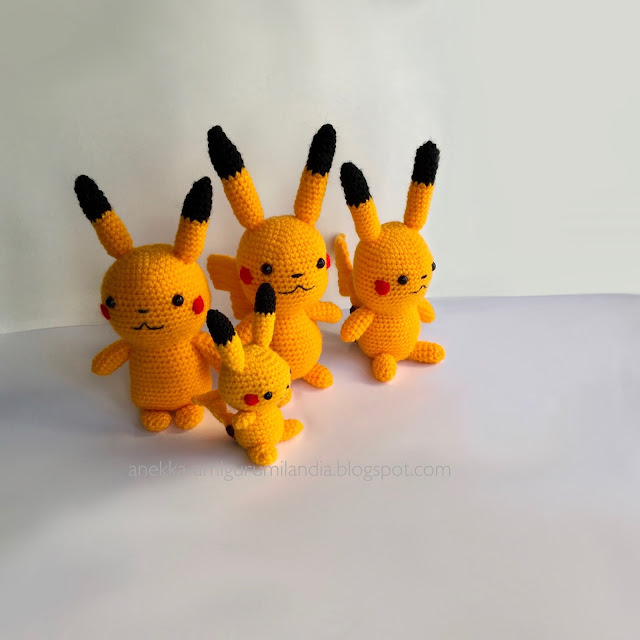 pokemon go amigurumi inspired