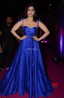 Mannara Chopra in Deep Neck Blue Gown at Zee Telugu Apsara Awards ~  Exclusive 031.jpg
