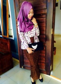 Baju kebaya batik remaja model kutu baru