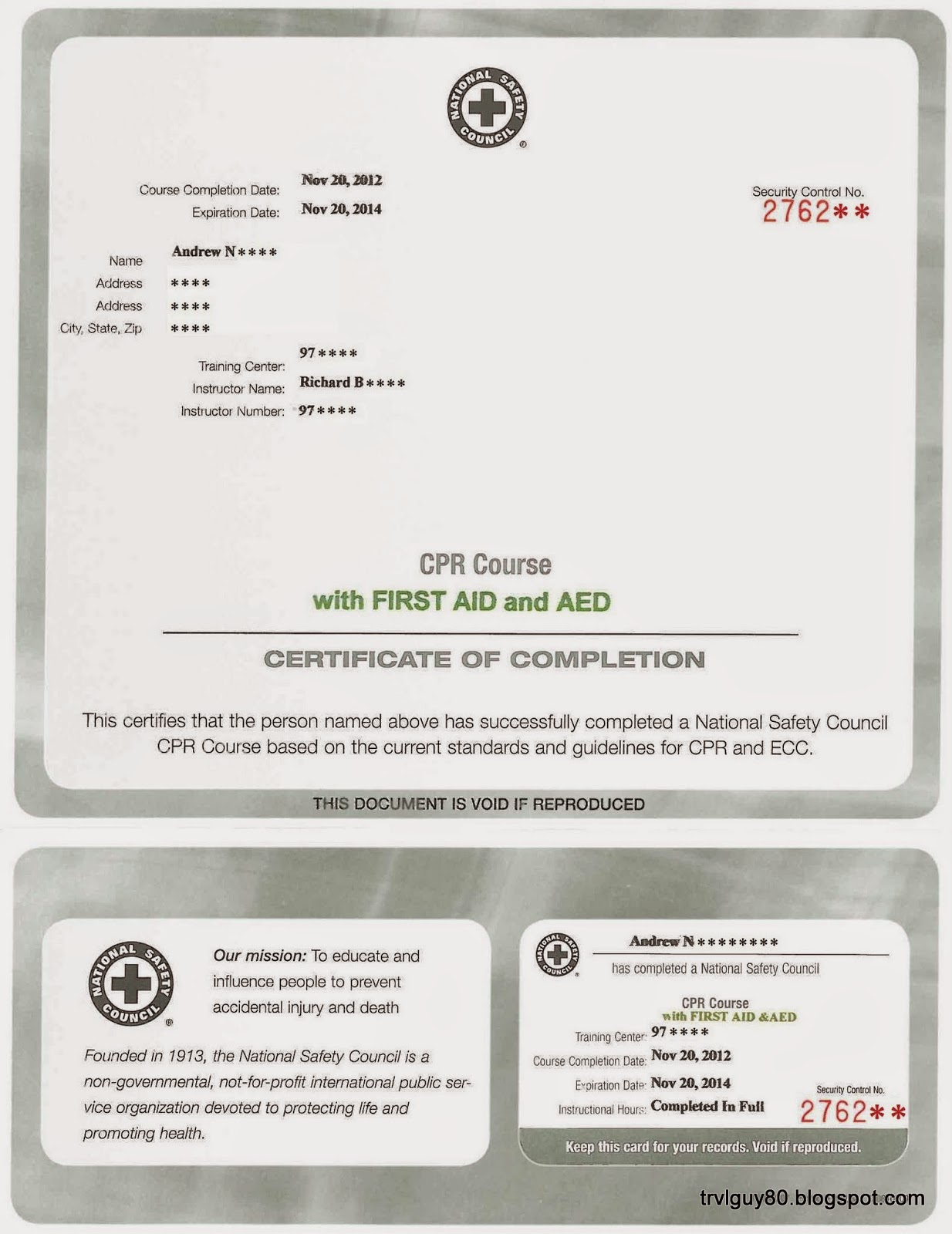 cpr aid nsc certificate certified training andrew trvlguy80 scope