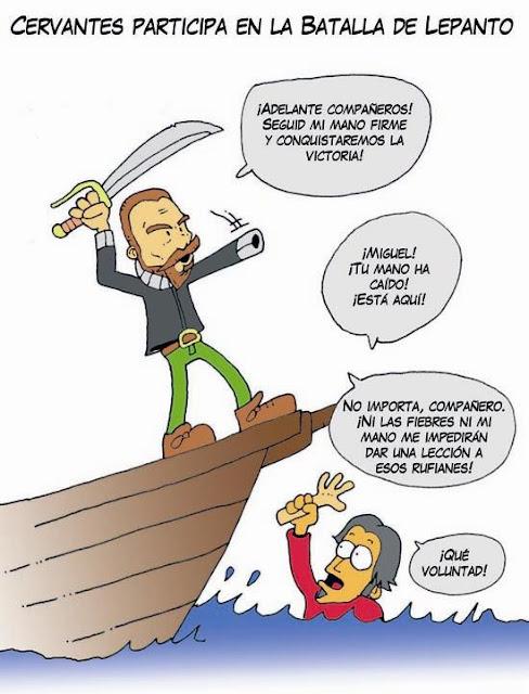 Cervantes, batalla de Lepanto