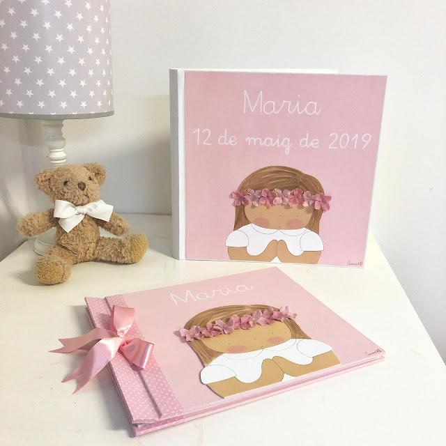 album de fotos comunión y libro de firmas personalizados niña