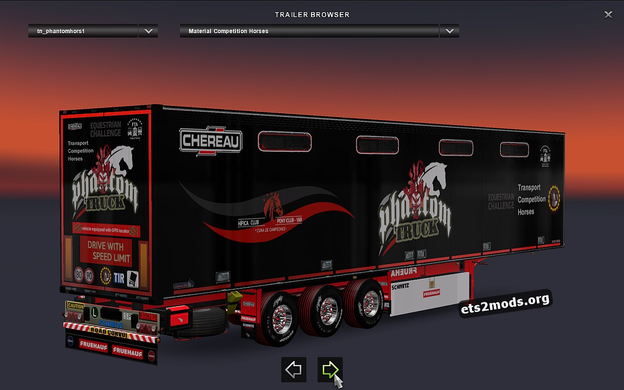 Trailers Pack - Phantom Competititon Horses V.1.0