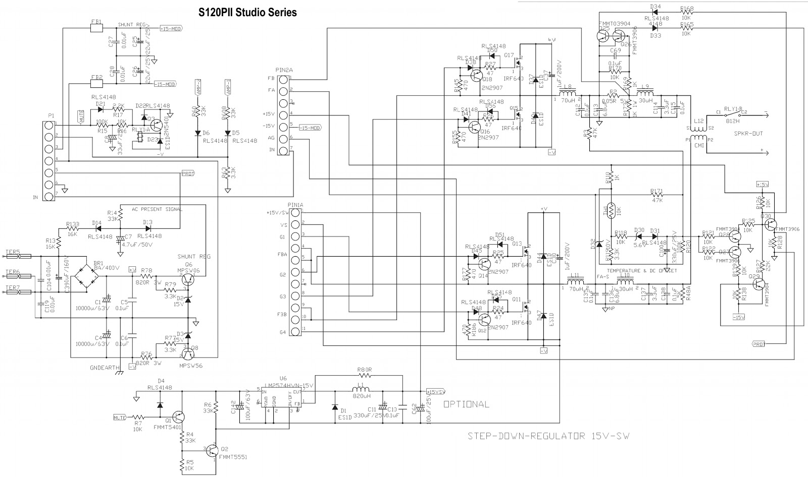 small resolution of jbl s120pii powered subwoofer schematic