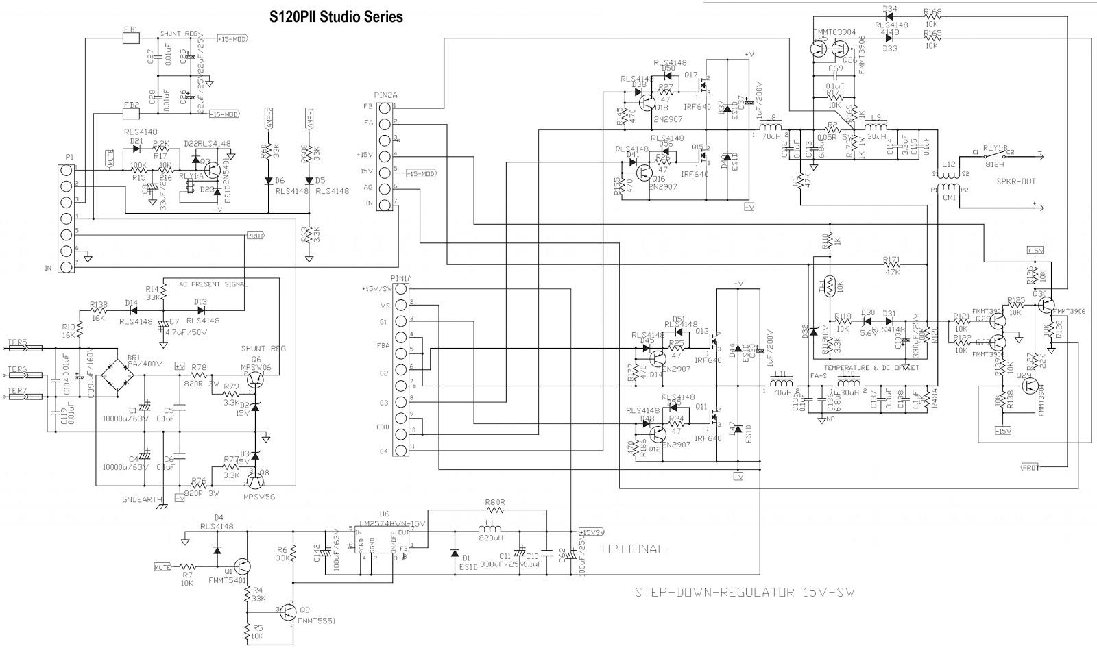 medium resolution of jbl s120pii powered subwoofer schematic