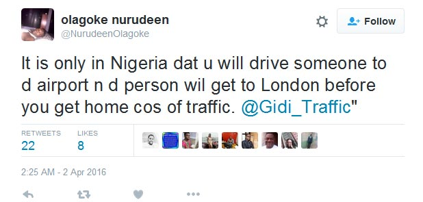 LMAO! See What Someone Tweeted About Nigerian Traffic