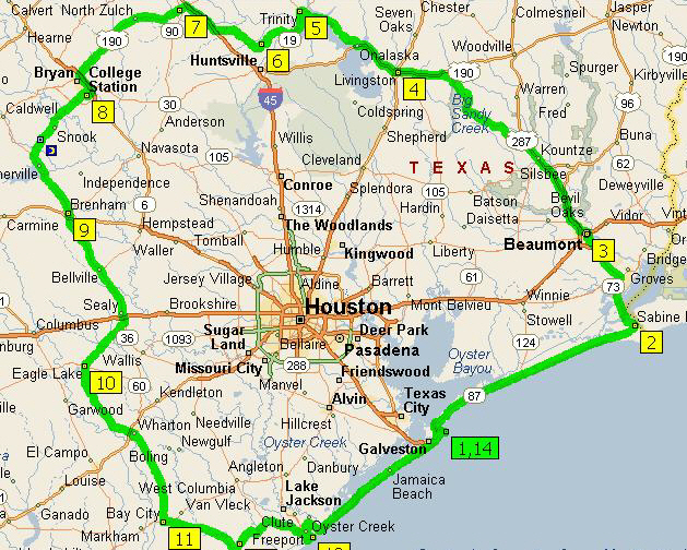 Map of Texas US State Texas Map