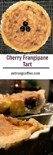 cherry frangipane tart made with ground almonds and fresh cherries
