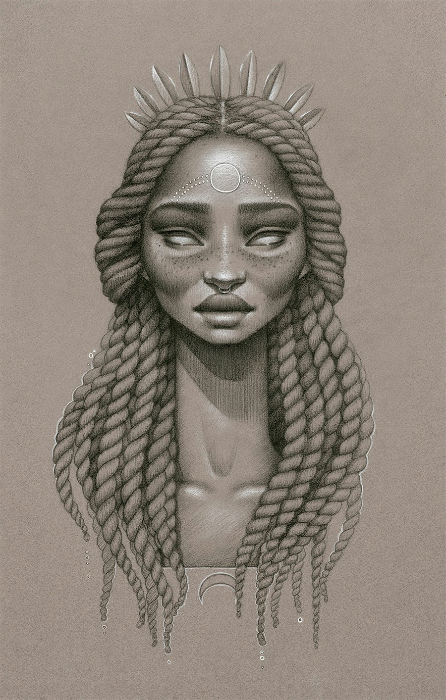 This is a graphic of Sizzling Drawing African American Faces