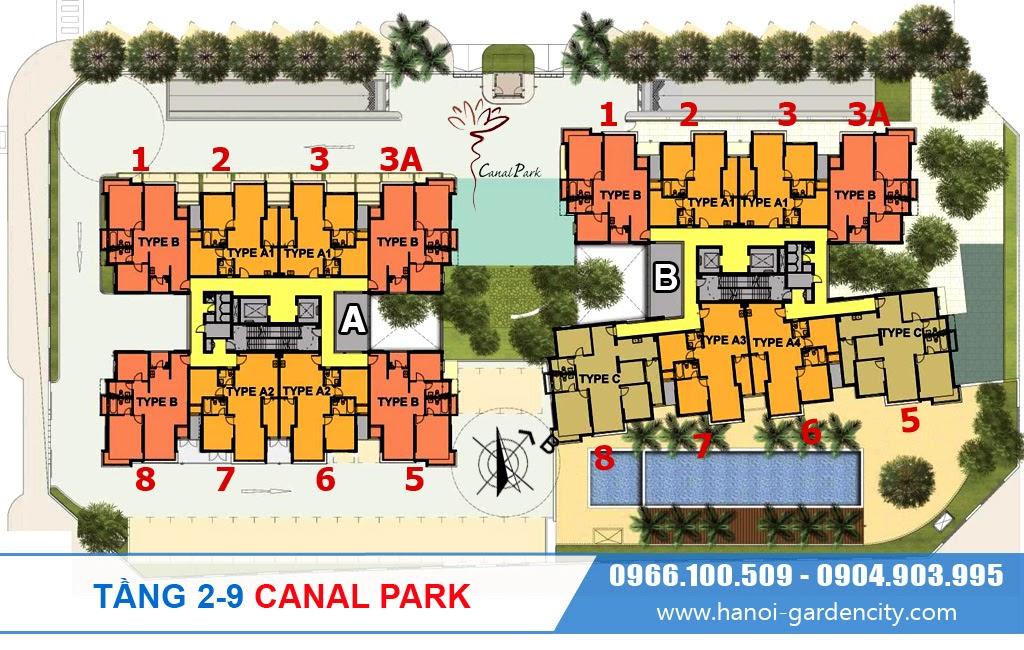 chung cư Canal Park Long Biên, chung cư Canal Park Thạch Bàn