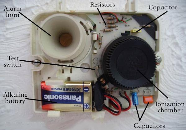 التركيب الداخلي لحساس الدخان او الغاز