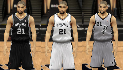 NBA 2K13 Spurs Home, Away, Alternate Jersey Patch